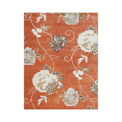 Gilbert Hand-Tufted Rust Area Rug Rug Size: 5 x 8
