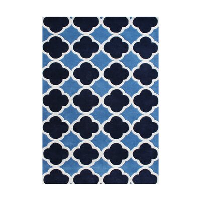 Humphrey Hand-Tufted Azure Blue Area Rug Rug Size: 6 x 9
