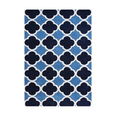 Humphrey Hand-Tufted Azure Blue Area Rug Rug Size: 9 x 12
