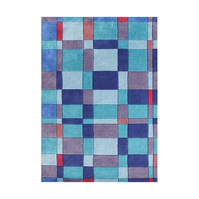Heriolf Hand-Tufted French Blue Area Rug Rug Size: 4 x 6
