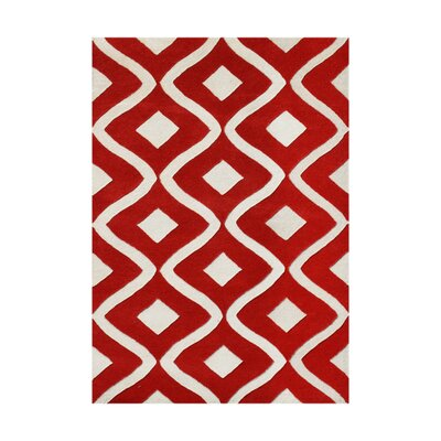 Herjulfsson Hand-Tufted Tomato Area Rug Rug Size: 4 x 6