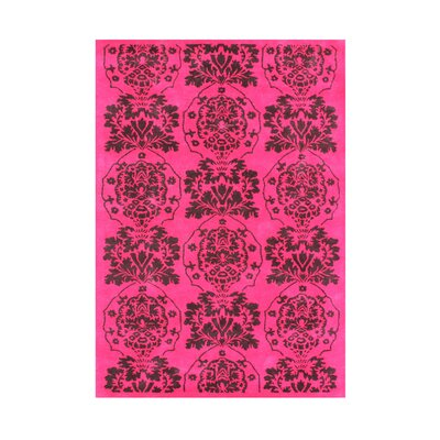 Bjarni Hand-Tufted Strawberry Pink Area Rug Rug Size: 5 x 8