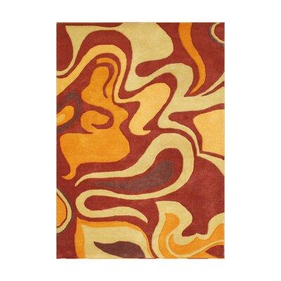 Von Alexander Hand-Tufted Pompeian Red Area Rug Rug Size: 5 x 8
