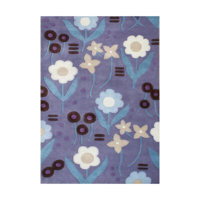 Joliet Hand-Tufted Purple Area Rug Rug Size: 5 x 8