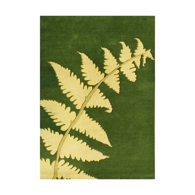 Louis Hand-Tufted Green Area Rug Rug Size: 4 x 6