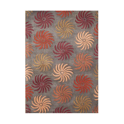 Jean-Francois Hand-Tufted Pompeian Red Area Rug