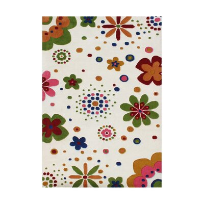 Lewis Hand-Tufted Cream Area Rug Rug Size: 5 x 8