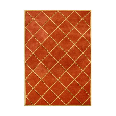 Marquette Hand-Tufted Rust Area Rug Rug Size: 5 x 8