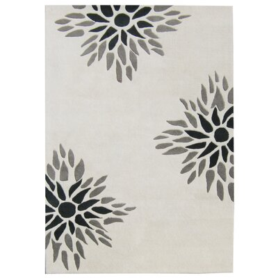 Newport Hand-Tufted Off-White Area Rug Rug Size: Square 6