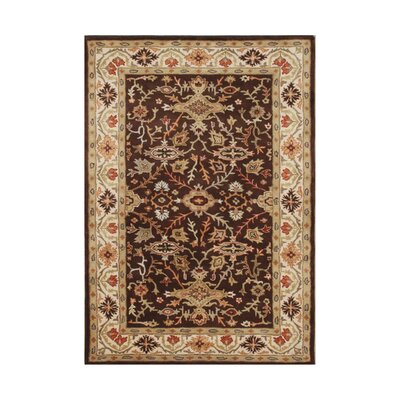 Narvaez Hand-Tufted Chocolate Brown Area Rug Rug Size: 5 x 8