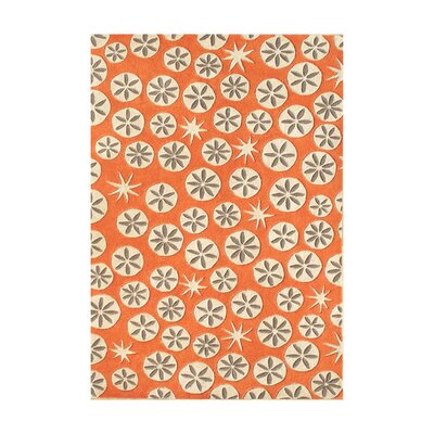 Nicollet Hand-Tufted Coral Rose Area Rug Rug Size: 5 x 8