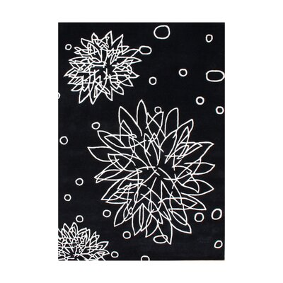 Jean Hand-Tufted Black Area Rug Rug Size: 5 x 8
