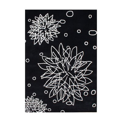 Jean Hand-Tufted Black Area Rug Rug Size: 8 x 10