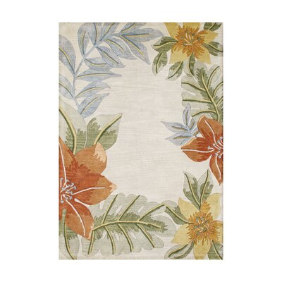 Peary Hand-Tufted Light Gray Area Rug Rug Size: 5 x 8
