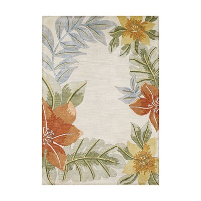 Peary Hand-Tufted Light Gray Area Rug Rug Size: 8 x 10