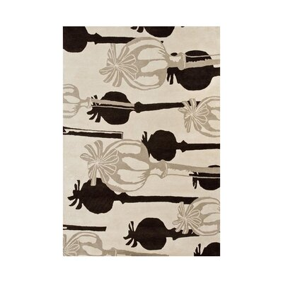 Zebulon Hand-Tufted Sand Area Rug Rug Size: 5 x 8
