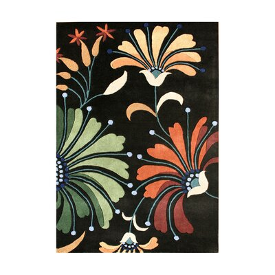 Pinzon Hand-Tufted Black Area Rug Rug Size: 5 x 8