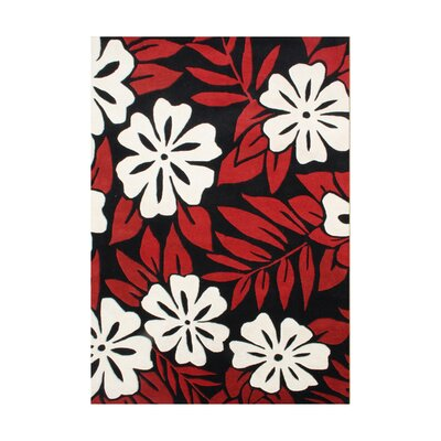 Alonzo Hand-Tufted Poppy Red Area Rug Rug Size: 5 x 8