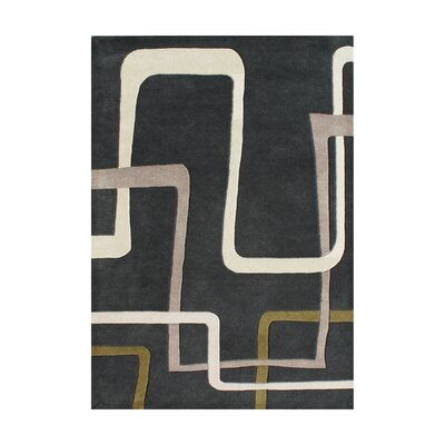 Vincente Hand-Tufted Black Area Rug Rug Size: 5 x 8