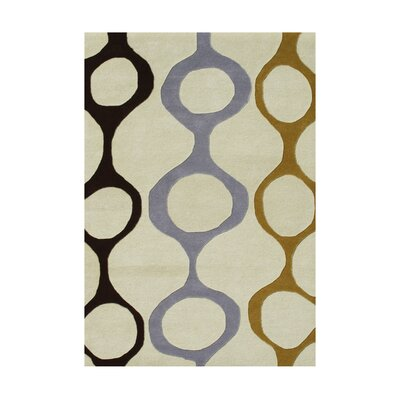 Pizarro Hand-Tufted Cream Area Rug Rug Size: 5 x 8