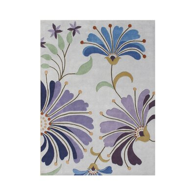Portola Hand-Tufted Light Purple Area Rug Rug Size: 5 x 8