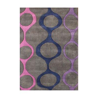 Gaspar Hand-Tufted Gray Area Rug Rug Size: 5 x 8