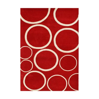 Radisson Hand-Tufted Red Area Rug Rug Size: 8 x 10