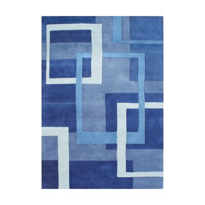 Rae Hand-Tufted Blue Area Rug Rug Size: 9 x 12