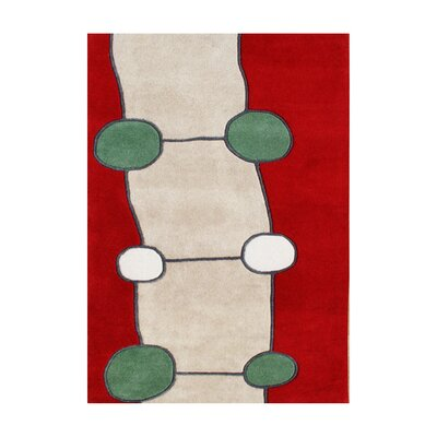 Raleigh Hand-Tufted Red Area Rug Rug Size: 5 x 8