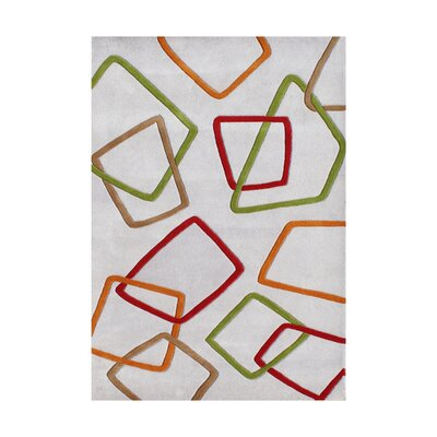 Walter Hand-Tufted Gray Area Rug Rug Size: 5 x 8