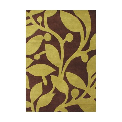 Sacajawea Hand-Tufted Brown Area Rug Rug Size: 5 x 8
