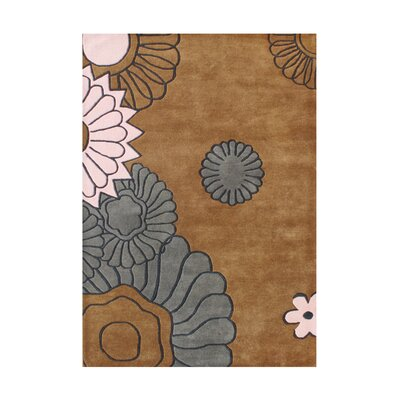 Serra Hand-Tufted Brown Sugar Area Rug Rug Size: 5 x 8