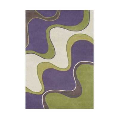 Junipero Hand-Tufted Purple Area Rug Rug Size: 5 x 8