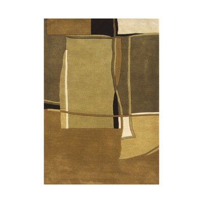 Smith Hand-Tufted Green Area Rug Rug Size: 5 x 8