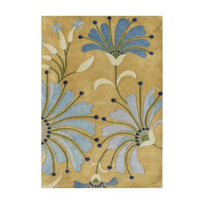 Jedediah Hand-Tufted Honey Gold Area Rug Rug Size: 5 x 8