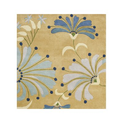 Jedediah Hand-Tufted Honey Gold Area Rug Rug Size: 6 x 6