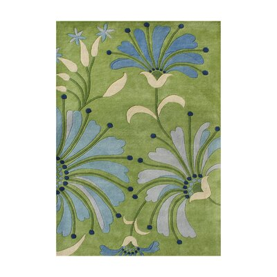 Stefansson Hand-Tufted Light Green Area Rug Rug Size: 5 x 8