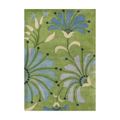 Stefansson Hand-Tufted Light Green Area Rug Rug Size: 6 x 9