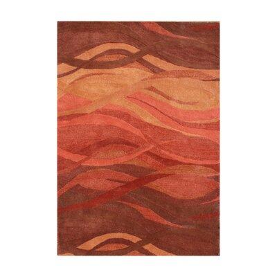 Stuyvesant Hand-Tufted Rust Area Rug Rug Size: 9 x 12