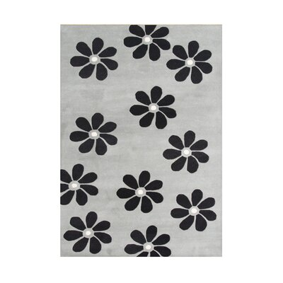 Thompson Hand-Tufted Ash Gray Area Rug Rug Size: 5 x 8