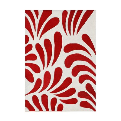 Vancouver Hand-Tufted Red Area Rug Rug Size: 8 x 10