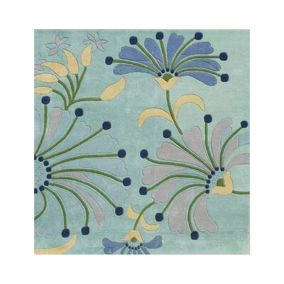Giovanni Hand-Tufted Nile Blue Area Rug Rug Size: Square 6
