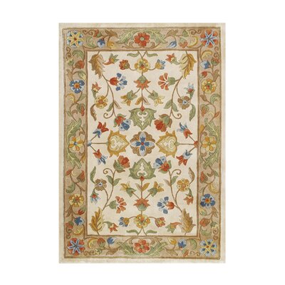 Vespucci Hand-Tufted Warm Sand Area Rug Rug Size: 5 x 8