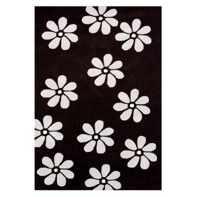 Achhnera Hand-Tufted Black Area Rug Rug Size: 8 x 10