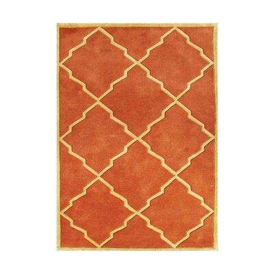 Adalaj Hand-Tufted Rust Area Rug Rug Size: 9 x 12