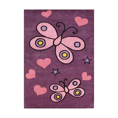 Adoor Hand-Tufted Pink Area Rug Rug Size: 5 x 8