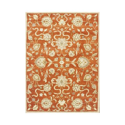 Adra Hand-Tufted Rust Area Rug Rug Size: Rectangle 10' x 12'
