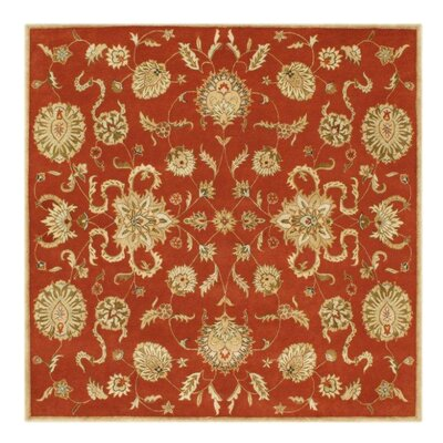 Adra Hand-Tufted Rust Area Rug Rug Size: Square 10