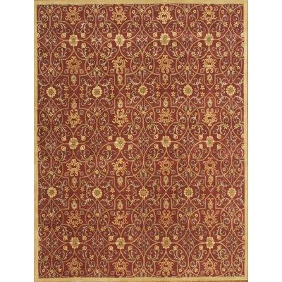 Afzalpur Hand-Tufted Burgundy Area Rug Rug Size: 9 x 12
