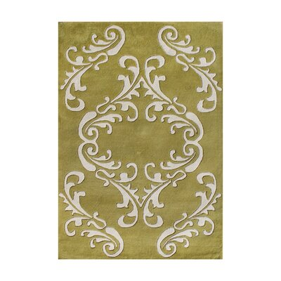 Alirajpur Hand-Tufted Golden Olive Area Rug Rug Size: 5 x 8